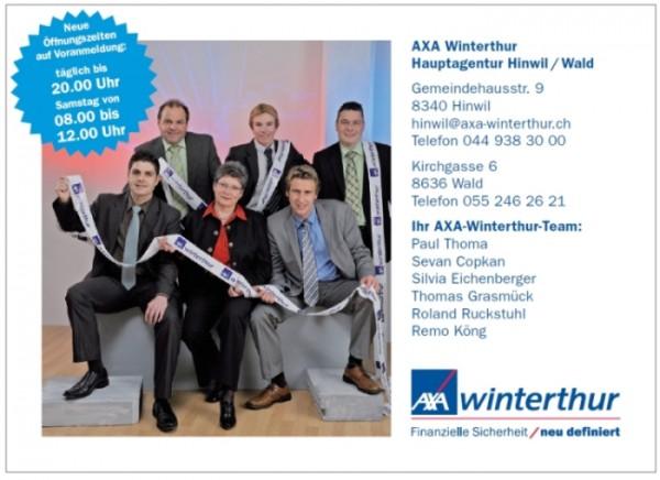 AXA Winterthur Hinwil - Sponsor von ultschGym